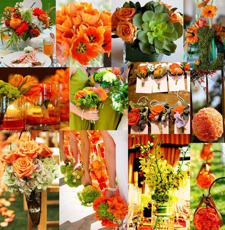 Orange & Green Wedding Colors I want a fall wedding so bad!!!