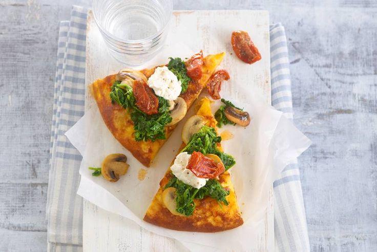 Kijk wat een lekker recept ik heb gevonden op Allerhande! Spinazie-ricotta-aardappelomelet