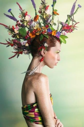 ❀ Flower Maiden Fantasy ❀ beautiful photography of women and flowers - floral mohawk.