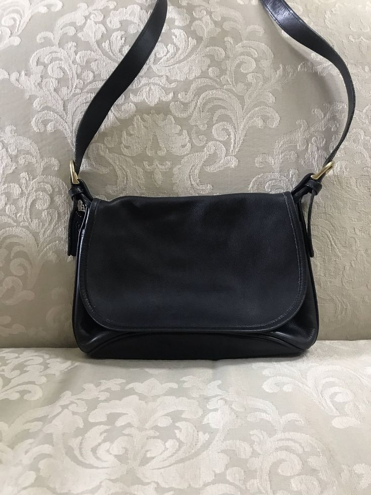 Excited to share the latest addition to my #etsy shop: Vintage Coach Bag, Black Coach Bag, Coach Shoulder Bag, Coach, Black Leather Bag, Coach Handbags, Coach Purses, Black Coach Purse