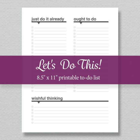To-do List Printable  Standard Letter Size   by by sassyplanners