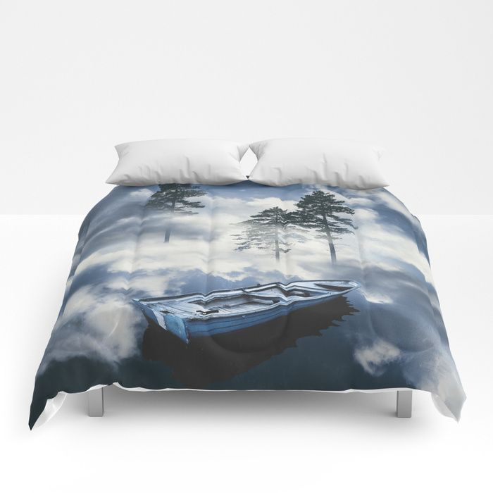 Forest sailing Comforters by HappyMelvin. #art #nature #photography #surreal #homedecor #comforter