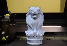 3D print of lion head and crown sculpted in Zbrush.  Printed on Stratasys Objet 3D printer by NeoMetrix Technologies, Inc.