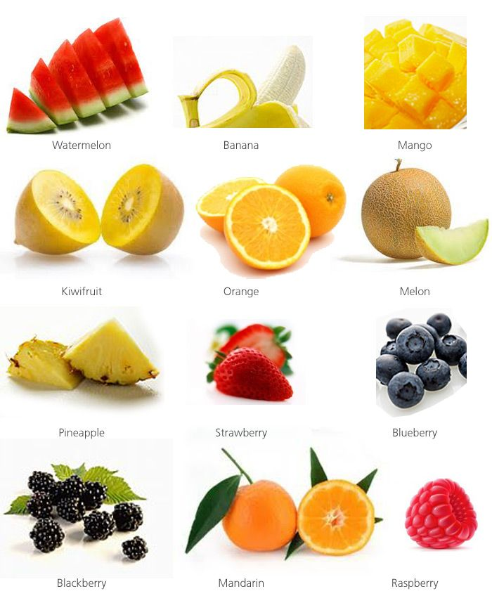 fruit and water types of fruits