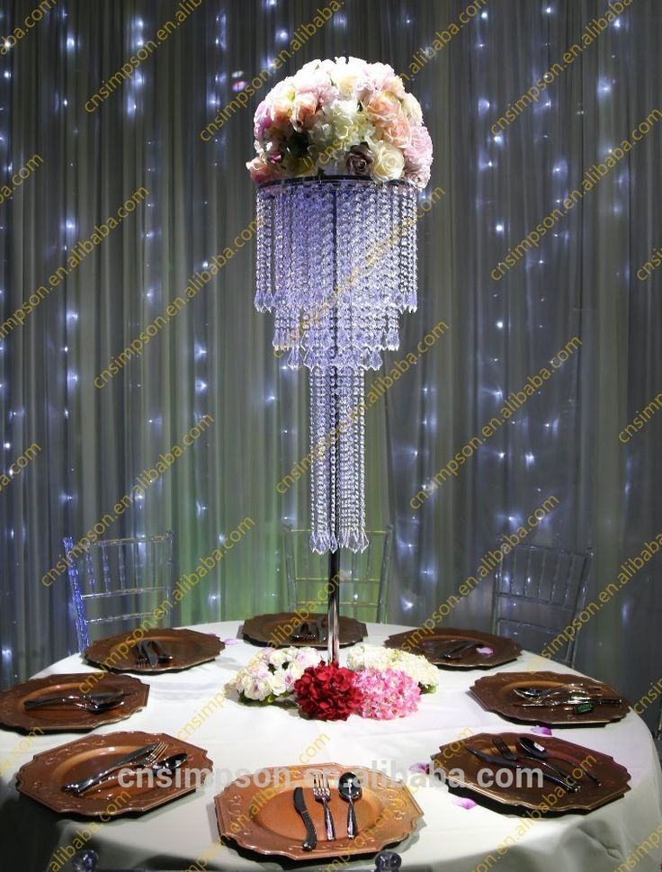 17 best ideas about chandelier centerpiece on pinterest for Plastic chandeliers for parties