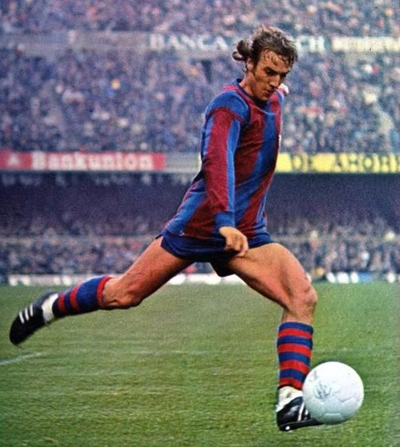 """Johan Neeskens, also known for his feats in the Netherlands with Cruyff and """"total football,"""" scored 35 goals in 145 games as a midfielder for Barca, 1974-1979. He was an assistant coach at the club, 2006-2008."""