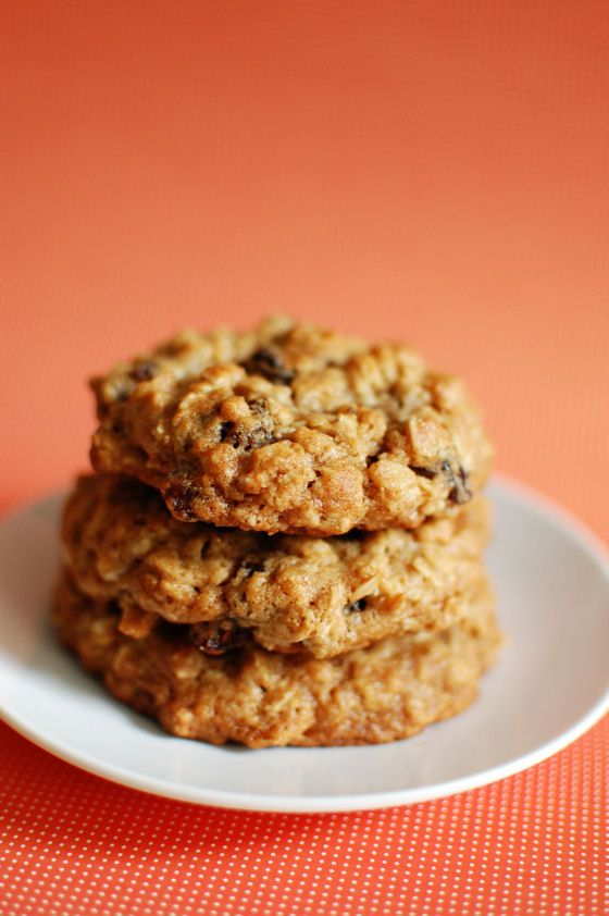 Thick and Chewy Oatmeal Raisin Cookies - Beantown Baker