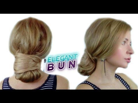 EASY LAZY HAIRSTYLE FOR LONG HAIR EASY QUICK ELEGANT BUN UPDO