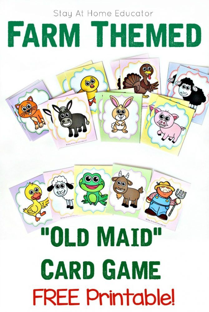 card games for preschoolers 36 best images about farm activities on 889
