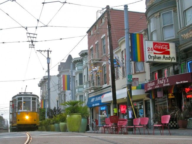 Orphan Andy's restaurant in the historic Castro district of San Francisco - my Favorite!!!