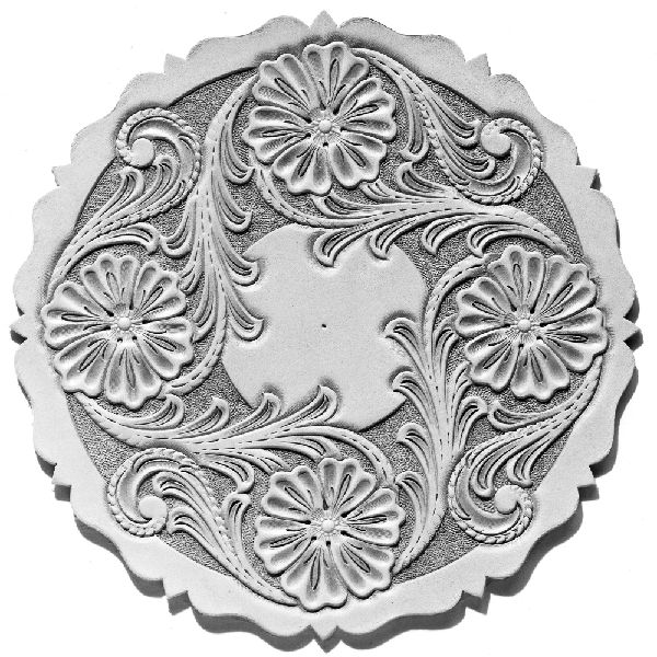 Leathercraft Library - Clock Round Sheridan Floral Design