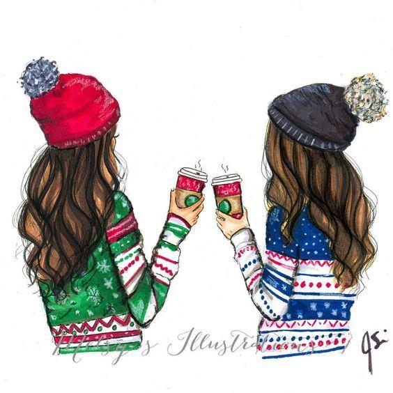 Winter Besties Tumblr | Animes & Illustrations | Best ...