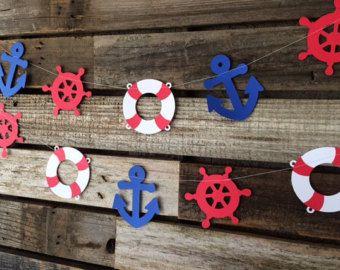 Náutico guirnalda guirnalda de marinero bajo el mar náutica