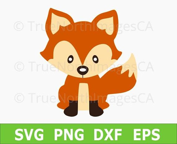 Fox vector. Svg clipart baby woodland