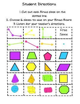 Geometry Fun Bingo Game image 2
