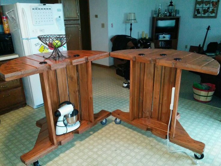 174 best images about cable spool table on pinterest for Cable reel table