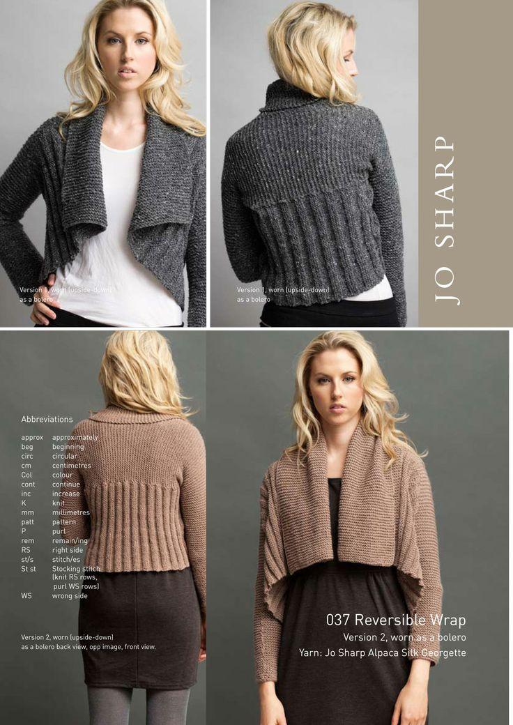 Reversible Wrap - free knit pattern