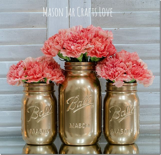 How To Spray Paint Mason Jars | Mason Jar Crafts Love