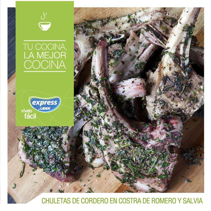 Chuletas de cordero a la parrilla en costra de romero y salvia #Food #Foodporn #Receta #RecetarioExpress #Chuletas #Cordero