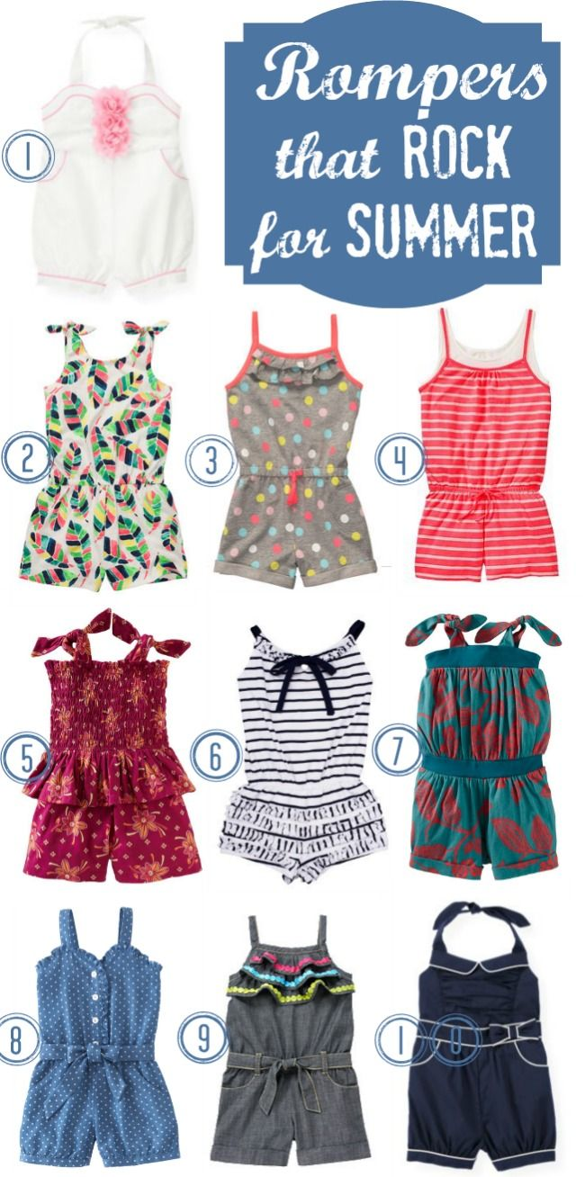 Girls Rompers for spring summer 2013