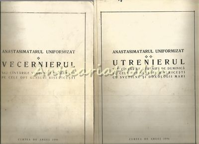 Anastasimatarul Uniformizat I, II - Profesor N. I. Lungu, Prof. Prof. Gr. Costea