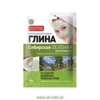 Glinka syberyjska zielona - odżywcza z dodatkiem ziół 75 gr