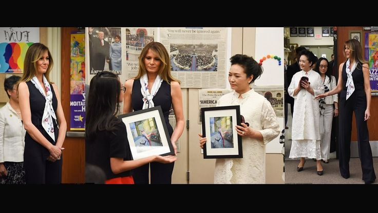 First Ladies Head Back to School! Melania Trump and China's Peng Liyuan ...