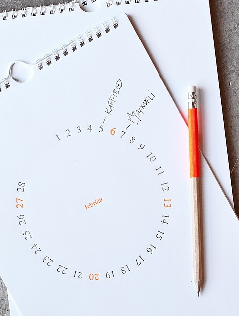 Round calendar, there are plenty of ways to represent the date.  ^ James Print
