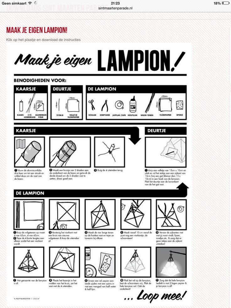 Lampion maken Paper lantern