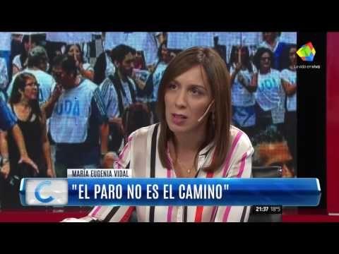 """Vidal dijo que """"la marcha fue un llamado de atención a sectores de la op..."""