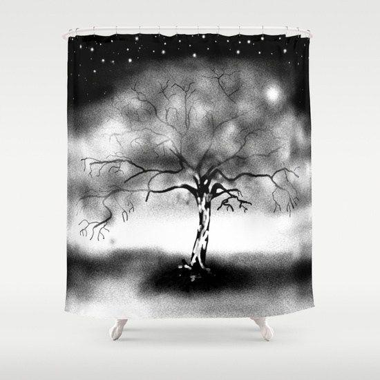 46 best Black Tree Shower Curtain images on Pinterest | Tree shower ...