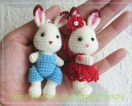 Mini Rabbit 25inches  PDF amigurumi crochet pattern by Chonticha, $5.00