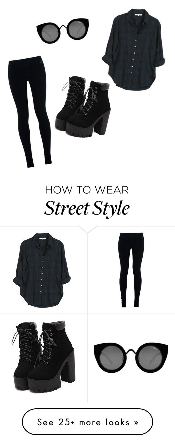 street style by bettyraven111 on Polyvore featuring Xirena, NIKE and Quay So…