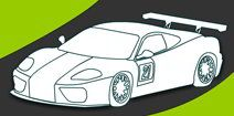 Games for preschoolers | Online Coloring and Painting Racing Car