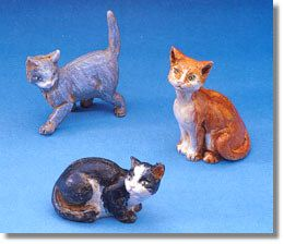 5 Inch Scale Cats - 3 Pc. Set by Fontanini