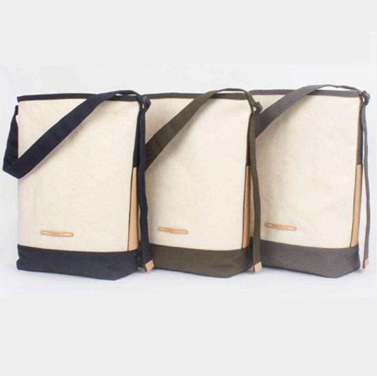 RAWROW Shoulder Bag Women Men Casual Fashion Canvas Strap Vegetable Leather Bag #RAWROW #ShoulderBag