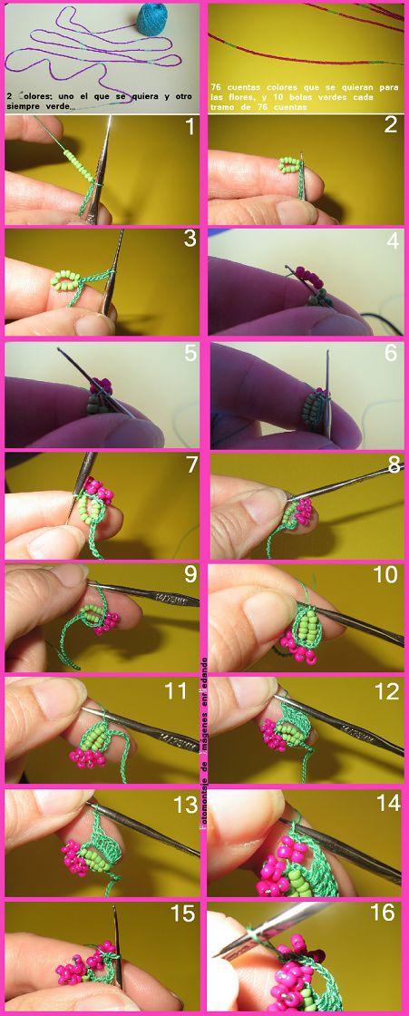 cicek boncuklu tig oyasi kolye yapilisi (1)