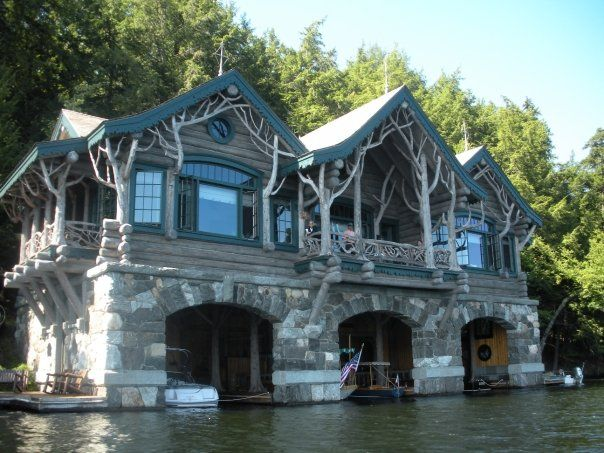 Amazing Lake House Boat Garage And All Houseboats