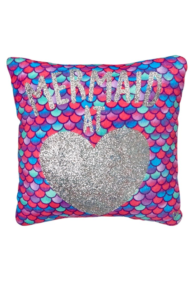 Throw Pillows With Jewels : Glitter Mermaid Throw Pillow (original price, $12.90) available at #Justice Girls Room ...