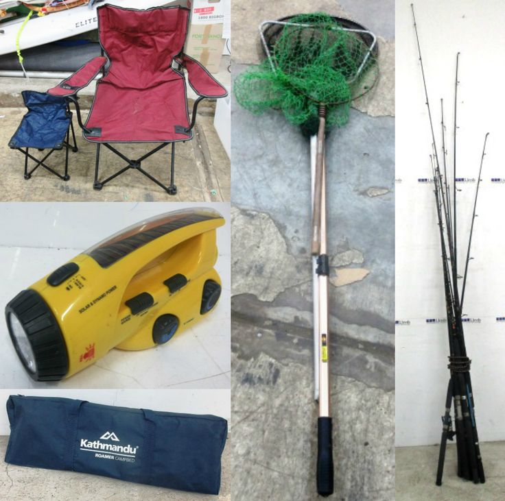 Load up on camping and fishing gear for the weekend! Includes some lots that are completely UNRESERVED