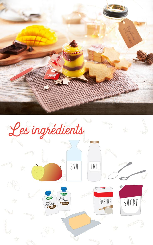 Une verrine simplissime, pour que bébé aie aussi son dessert de noël! #recettedefête #recettebébé