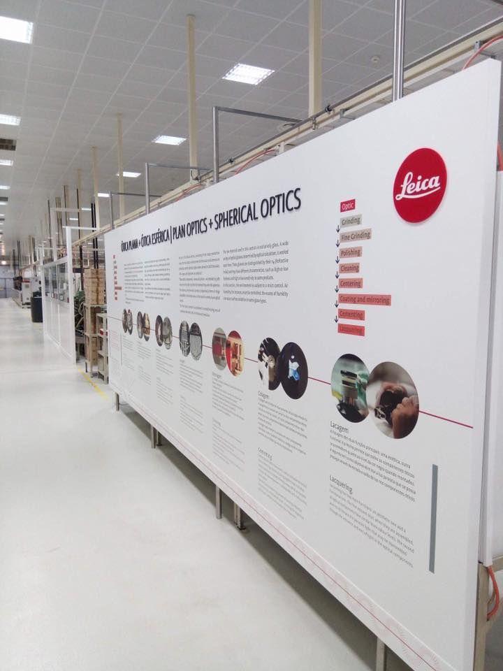 Leica Estrutura com vinil impresso, lettering e logo é acrílico...  by CdR