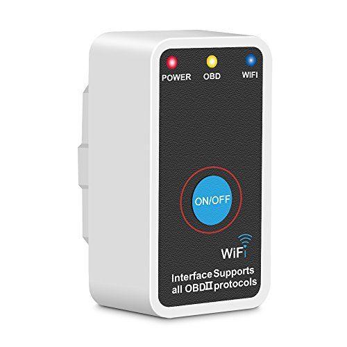 Aomaso OBD2, OBDII Diagnostic Scanner Automobile WIFI sans Fil Auto Scanner pour Voiture, Numérisation Adapteur d'outils Compatible avec…