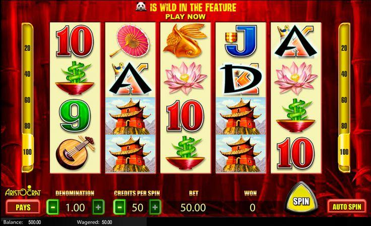 Online Wild Panda #Spielautomat von #Aristocrat wird dir viel Spass bereiten! Ausserdem kann man es absolut kostenlos spielen!