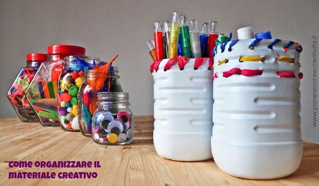come organizzare il materiale creativo