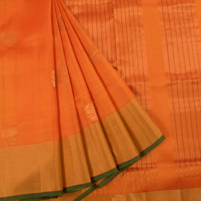 Handwoven Uppada Silk Saree With Neelambari Butta & Tissue Zari Border 10023138 - AVISHYA.COM