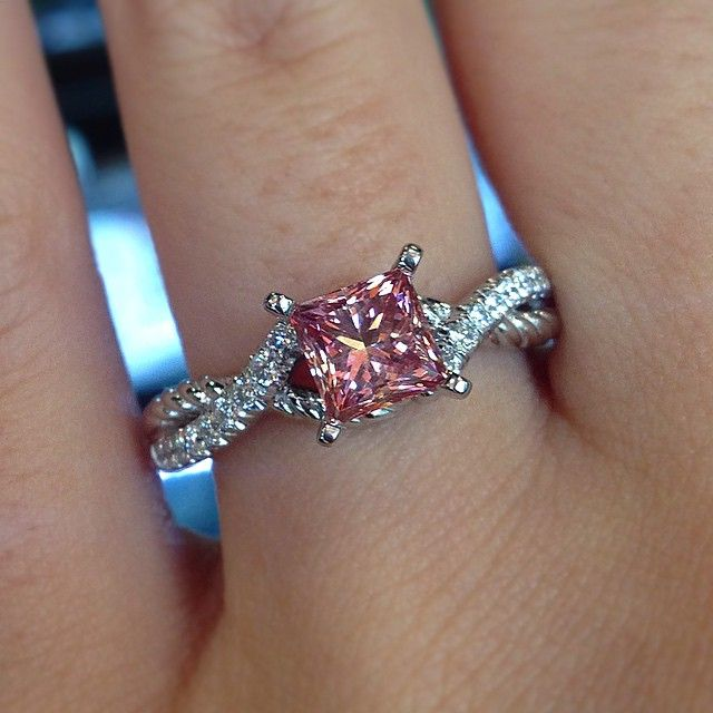 Best 25 pink diamond engagement ring ideas on pinterest 5 carat pink diamond engagement ring junglespirit Images