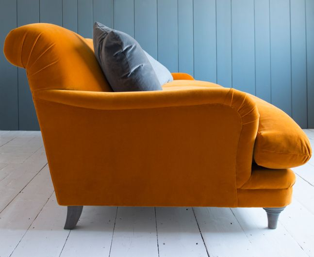 Perfectly risen and totally moreish, this Pudding sofa in Burnt Orange velvet is just yummy. You'll never want to sit anywhere else. Seconds, please.