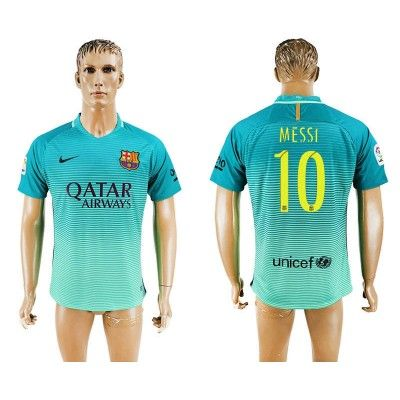 Barcelona 16-17 Lionel Messi 10 TRødje Trøje Kortærmet.  http://www.fodboldsports.com/barcelona-16-17-lionel-messi-10-trodje-troje-kortermet.  #fodboldtrøjer