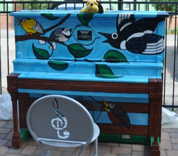 Old Town Fort Collins has hand-painted pianos scattered around. Sit down and play! Photo/Steve Collins
